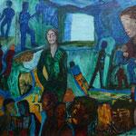 Bouquets - sur terre comme au ciel, 2012, toile sur châssis, 35x27 cm