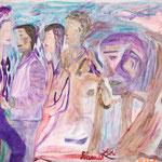 Fan de Jazz en surimpression, 2009, papier toilé FIGUERAS