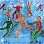 Gymnastique, 2009, miniature, 15x15 cm