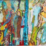 Ruée vers l'art, 2012, carton entoilé, 33x24 cm