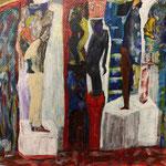 Suite de podiums, 2013, papier chinois, 28x37 cm