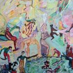 Une naissance du monde, 2013, papier ACRYLIC, 30x40 cm