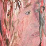 Patience rouge, 2010, toile sur châssis, 27x35 cm