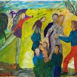 Ballade, 2009, papier contrecollé enduit, 21x29,5 cm