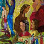 Allons chez les grands, 2008, toile sur châssis, 27x35 cm