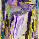 Cascade, 2010, papier toilé enduit, 21x29,5 cm