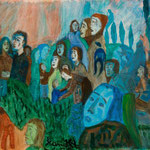 Une foule en automne, 2008, papier enduit, 21x29,5 cm