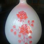 紅染薔薇文花瓶