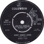 The Sporting Life/Night Comes Down Columbia DB 7511 1965