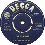 The Pied Piper/Sweet Dawn, My True Love Decca F 12359 1966 side A