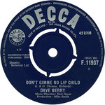 The Crying Game/Don't Give Me No Lip Child Decca F 11937 1964