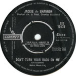 Don't Turn Your Back on Me/Be Good Baby Liberty LIB 10175 1964