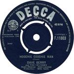 My Baby Left Me/Hoochie Coochie Man Decca F 11803 1964