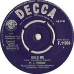 Hold Me/The Tips of My Fingers Decca F 11904 1965