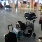 Furby auf den anderen Mitreisenden
