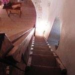 Turmtreppe von oben