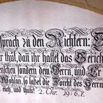 Wandschrift Ermahnung der Chorrichter