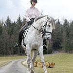 Traversale im Schritt, Foto: Lisa Rädlein www.cavallo.de