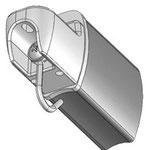 Der Fallstab der FMGZ besteht aus einem stranggepresstem Aluminiumprofil mit Endkappen aus hochwertigem Kunsstoff.