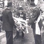 Rietzer Veteranen Kranzniederlegung 1957