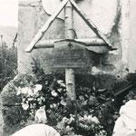 Birkenkreuz für gefallene Soldaten
