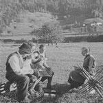Muchelers beim Marenden 1936