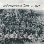 Rietzer Schützenkompanie 1921