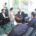 矢田市長と合流