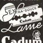Lames de rasoir Cadum - 1941