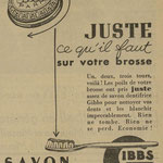 Dentifrice Gibbs - journal l'Echos de Nancy du 6 octobre 1941
