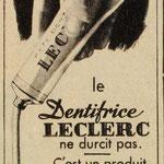 Dentifrice et brosse à dents Leclerc - magazine Marie-Claire du 15 février 1944