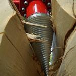 Kegelholzspalter für Minibagger