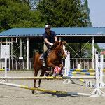 武富コーチの見事な騎乗