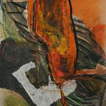 ohne Titel, 2005, Pastell/Collage, 35x49cm