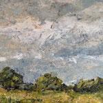 Sommer, 2018, Öl/Collage auf Leinwand, 120x80 cm