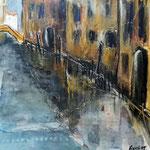 Venedig, 2015, MT/Collage auf Karton, verkauft