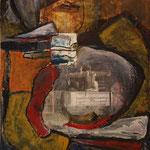 Musikalienengel, 2006, Collage auf Hartfaserplatte, 76x90cm