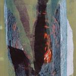 ohne Titel, 2006, Monotypie/Holzschnitt, 25 x 35 cm, verkauft