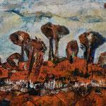 Wolkenvogel, 2015, Acryl auf Leinwand, 80x60cm, verkauft