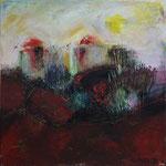 Rote Landschaft, 2010, Acryl auf Leinwand, 40x40cm, verkauft