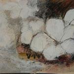 Kirschblüte I , 2015, Collage, verkauft