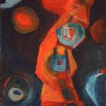 Sternenwesen, 2012, Acryl auf Leinwand, 30x40cm