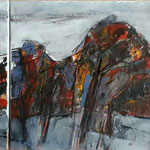Westrand, 2015, Acryl auf Leinwand, 3x30x30cm, verkauft
