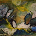 Kokons, 2012, Acryl/Collage, 800x60cm