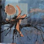 Blauer Nebel, 2004, Collage, 39,5 x 21 cm, verkauft
