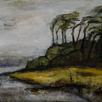 Windflüchter/ Weststrand, 2015, Acryl auf Leinwand, 80x60cm, verkauft