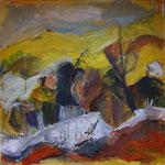 Gelbe Landschaft, 2008, Mischtechnik, 80x80cm, verkauft