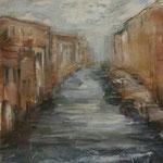 Nebel über Land und Wasser, 2017, Collage, 22x29cm, verkauft