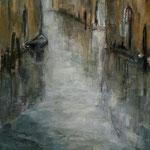 Blick von der Brücke, 2017, Öl auf Leinwand, 50x60cm, verkauft