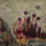 Wunderblumen, 2014, Collage aur Hartfaserplatte, 30x43cm, verkauft